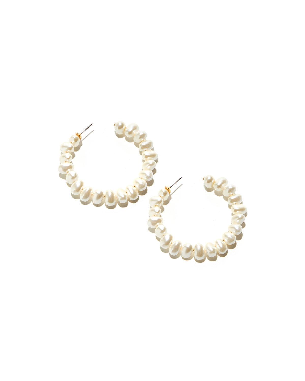 Lele Sadoughi Jelly Bean Hoop Earrings