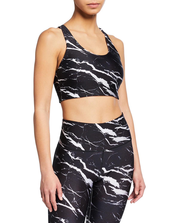 Terez Marble Hi-Shine Sports Bra - Size: Extra Large