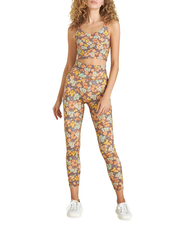 Veronica Beard Malea Floral-Print Sports Bra - Size: Medium