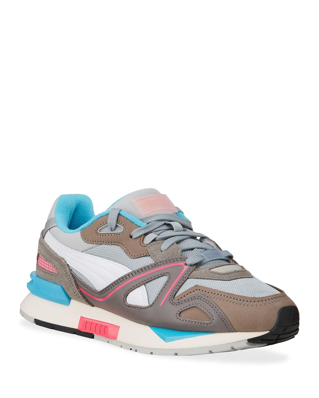 Puma Men's Mirage Mox Colorblock Suede Sneakers - Size: 9D