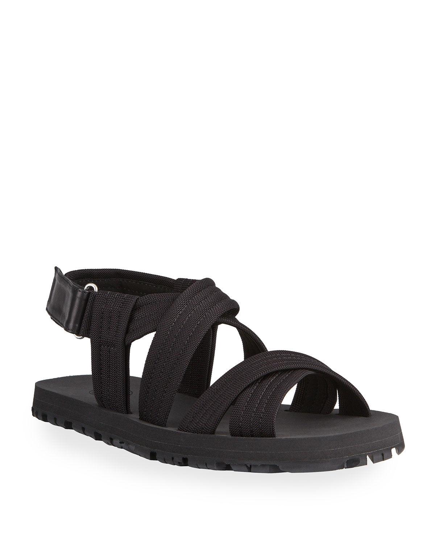 Dries Van Noten Men's Strappy Grip-Strap Sport Sandals - Size: 43 EU (10D US)