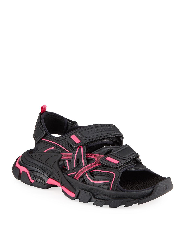Balenciaga Bicolor Dual-Grip Sport Sandals - Size: 10B / 40EU