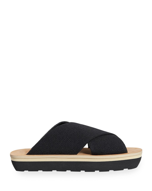Proenza Schouler Sport Elastic Slide Sandals, Black - Size: 10B / 40EU