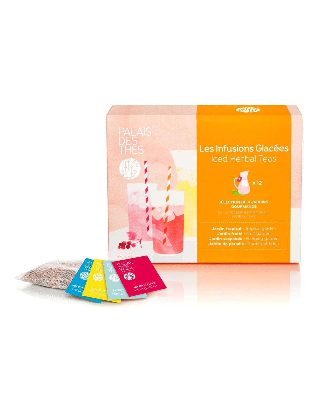 Palais des Thes Herbal Iced Teas Assortment Box, 12 Bags