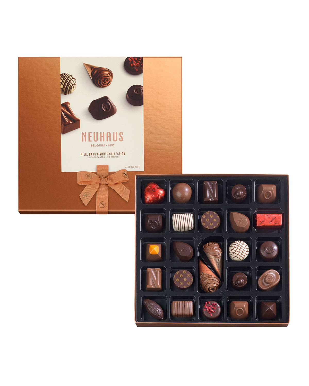 Neuhaus Chocolate 25-Piece Milk, Dark & White Discovery Collection