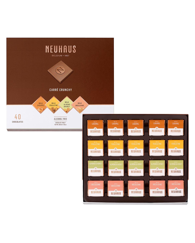 Neuhaus Chocolate 40-Piece Crunchy Milk Chocolate Box