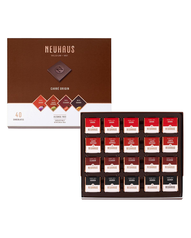 Neuhaus Chocolate 40-Piece Origin Dark Chocolate Box