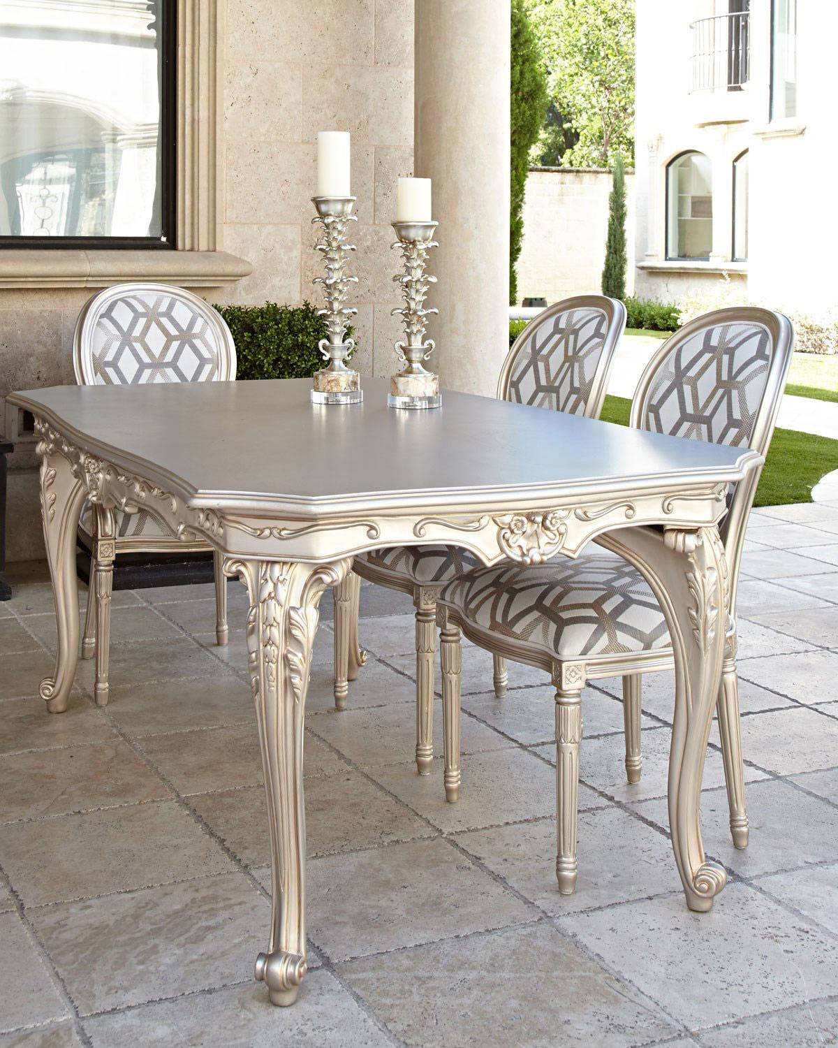 Outdoor Dining Table - CHAMPAGNE