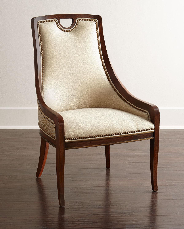 Massoud Gia Dining Chair - TAN/ GOLD