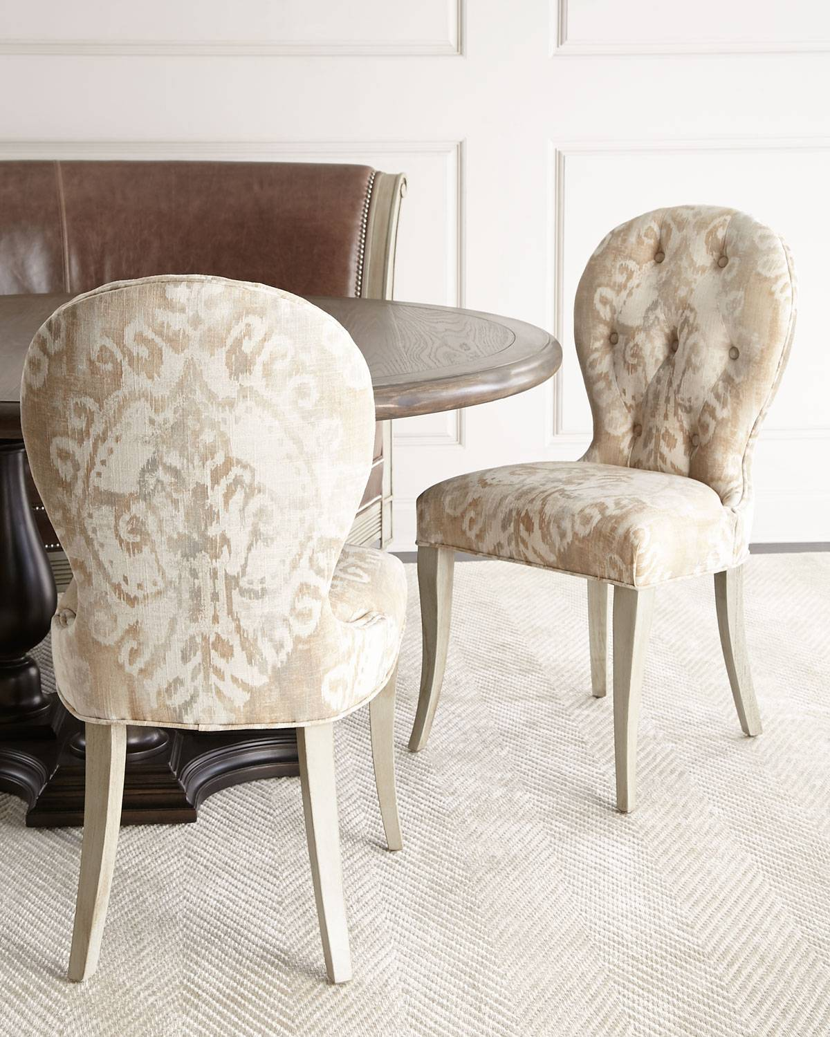 Massoud Porcelain Dining Chair - IVORY TAN