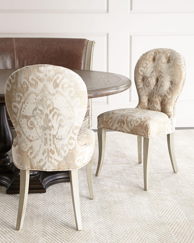 Massoud Porcelain Dining Chair - IVORY TAN