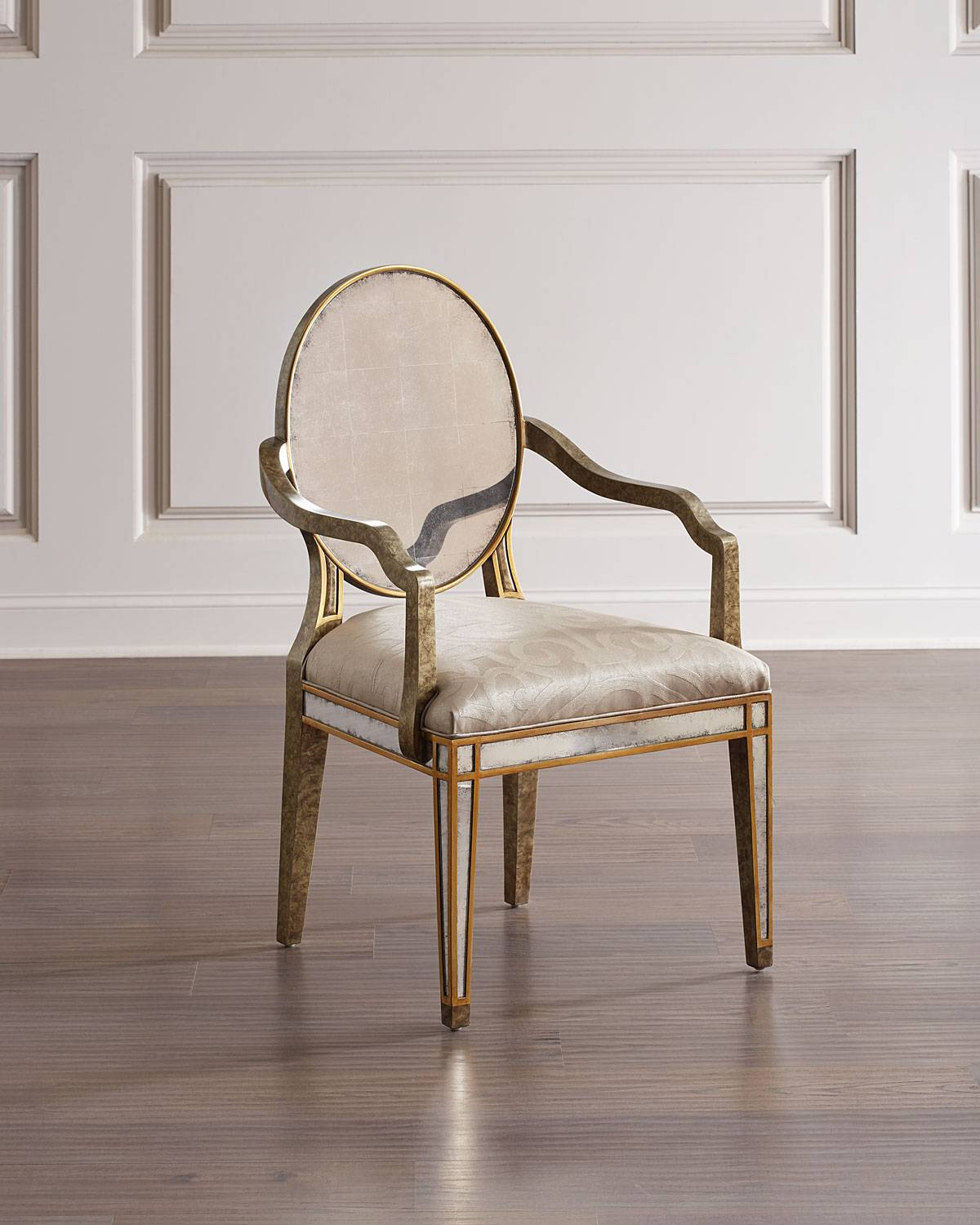 John-Richard Collection Eglomise Dining Arm Chair