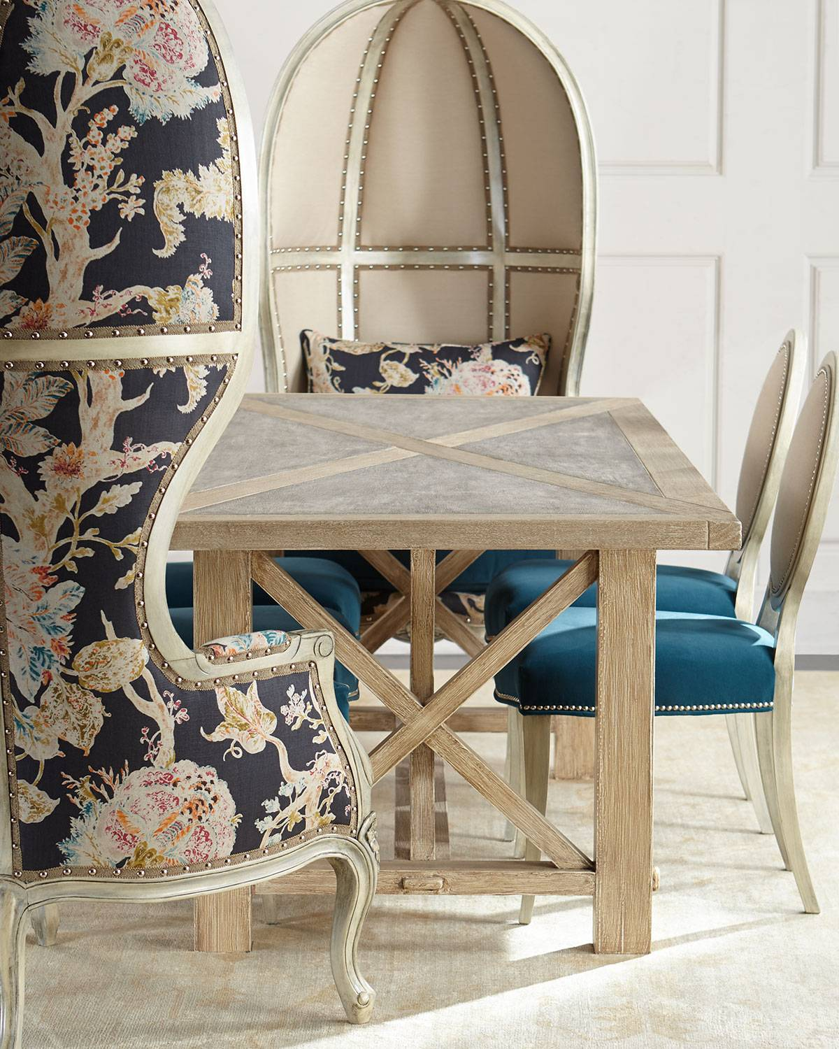 Plymouth Dining Table - BROWN