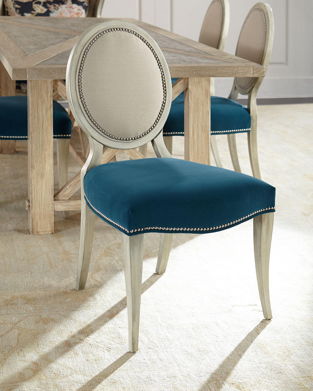 Massoud Paige Linen Dining Chair