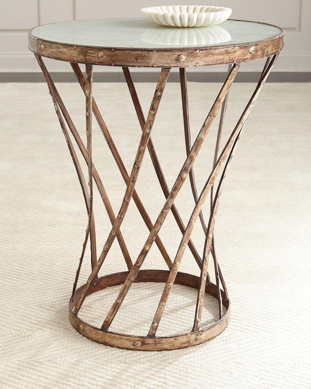 Peninsula Home Collection Liseta Side Table - BROWN