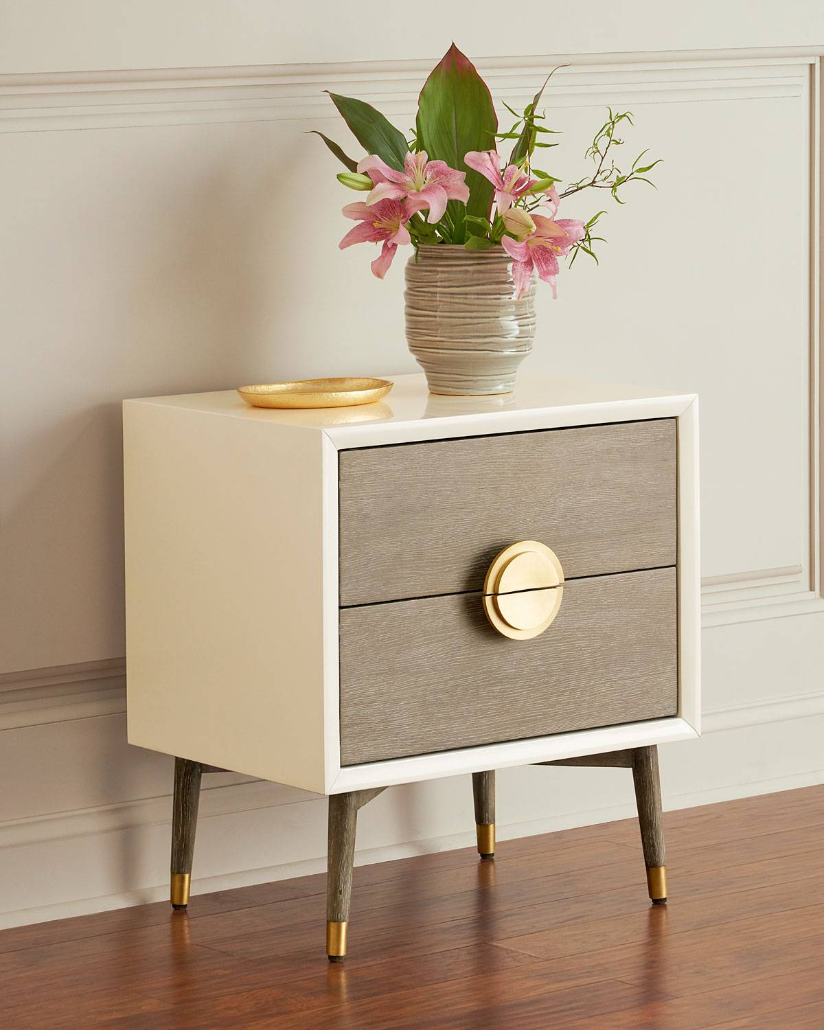 Interlude Home Darling Lacquer Bedside Chest