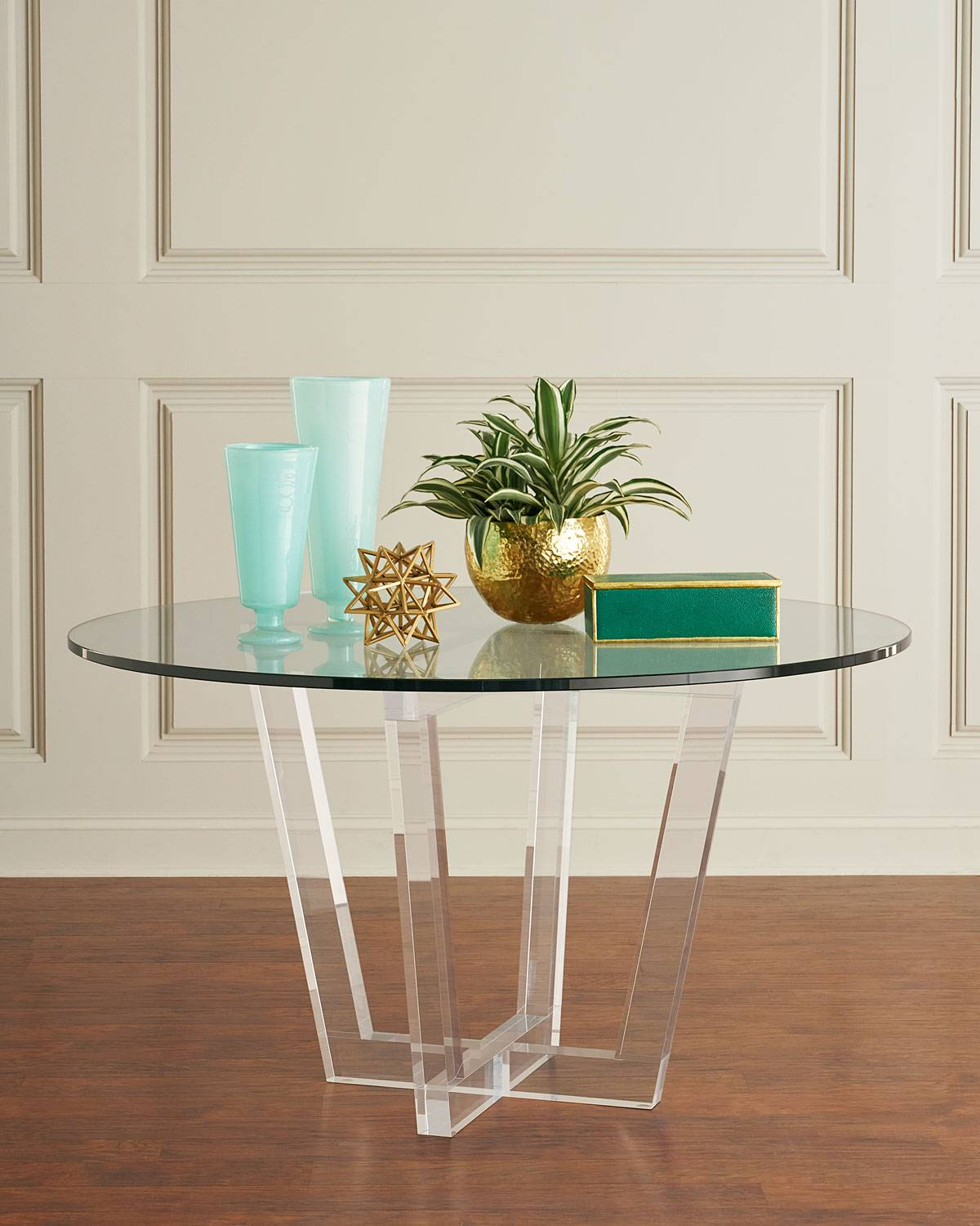 Interlude Home Lovey Acrylic Round Dining Table