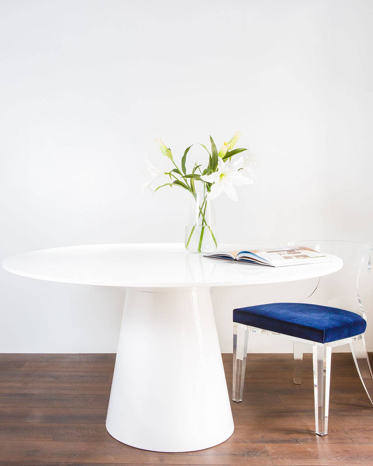Amity Round Dining Table - WHITE