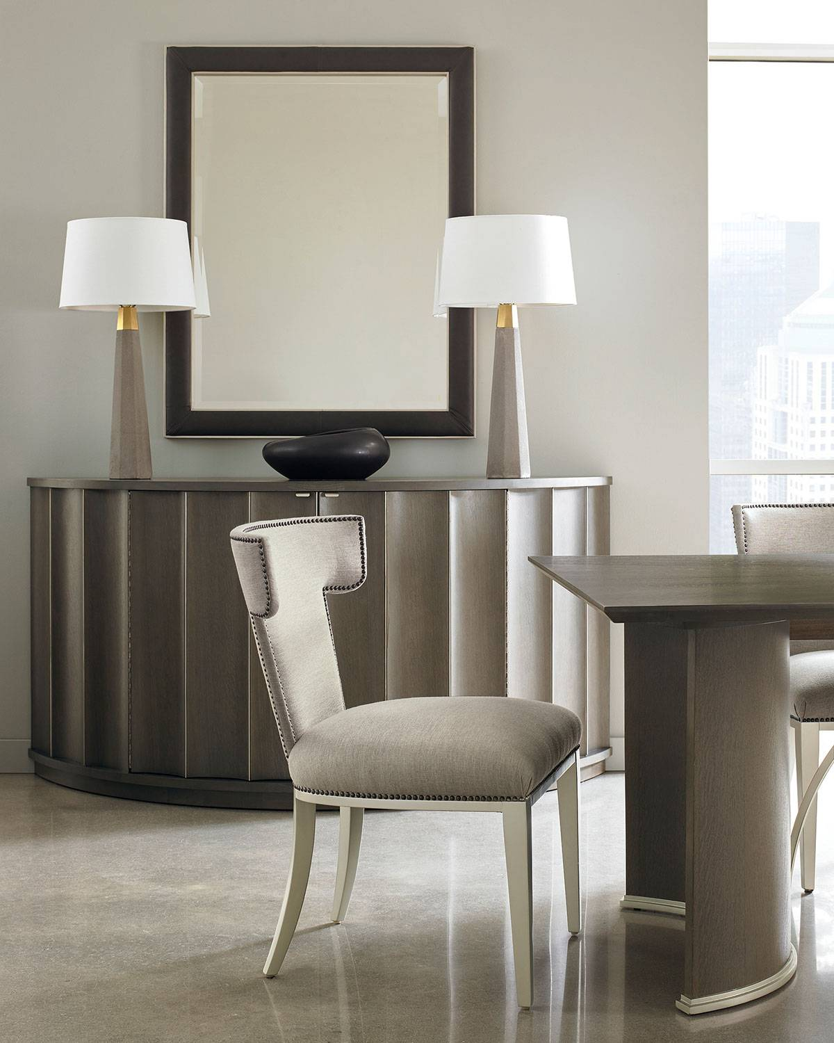 caracole Pair of Uptown Dining Chairs