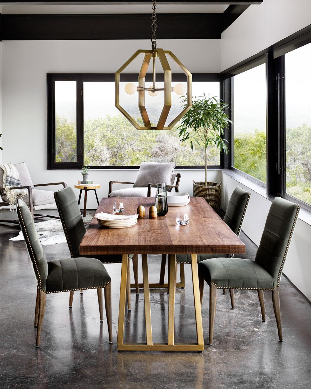 Shalane Dining Table - LIGHT WALNUT