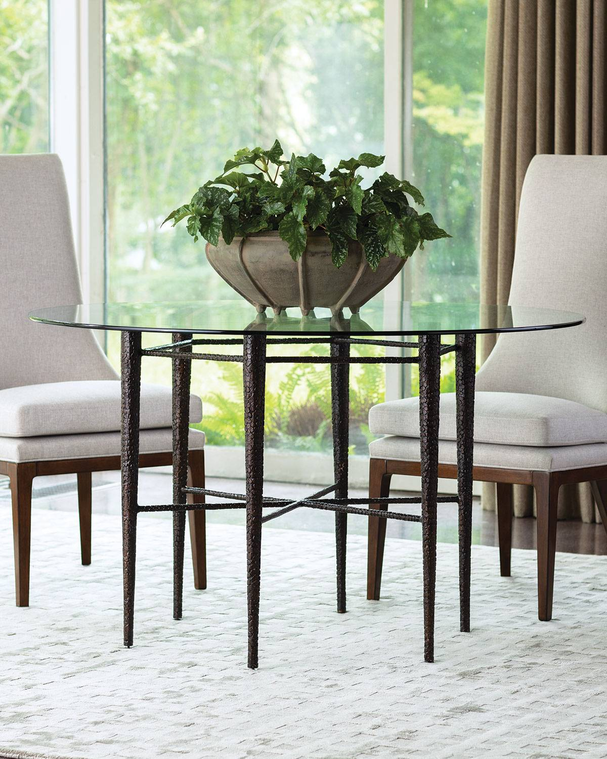 Global Views Hammered Bronze Dining Table