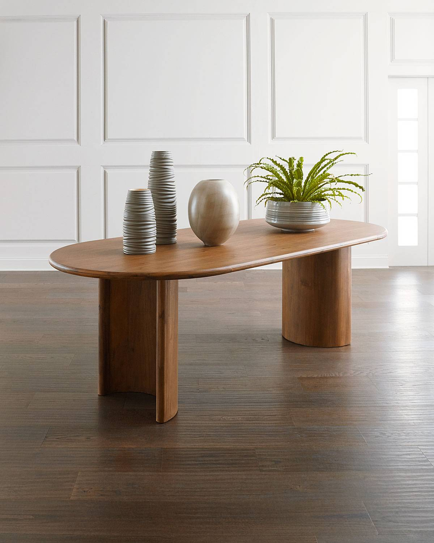 Laurene Dining Table - BROWN