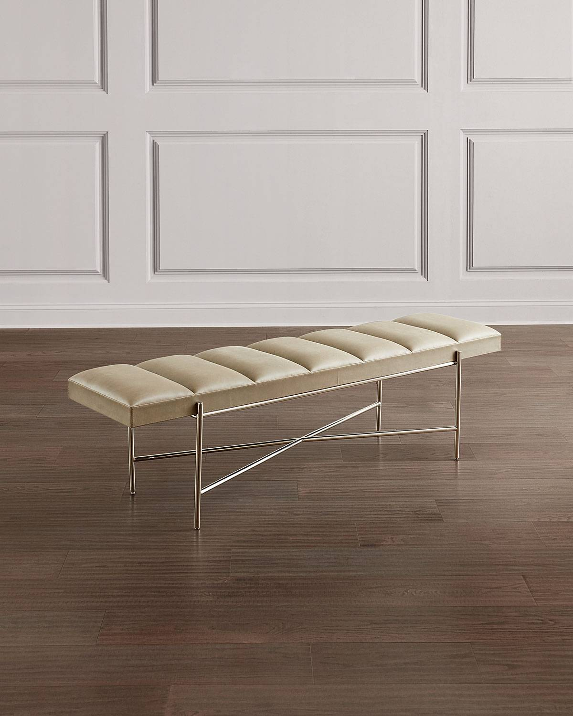 Interlude Home Zora Leather Bench
