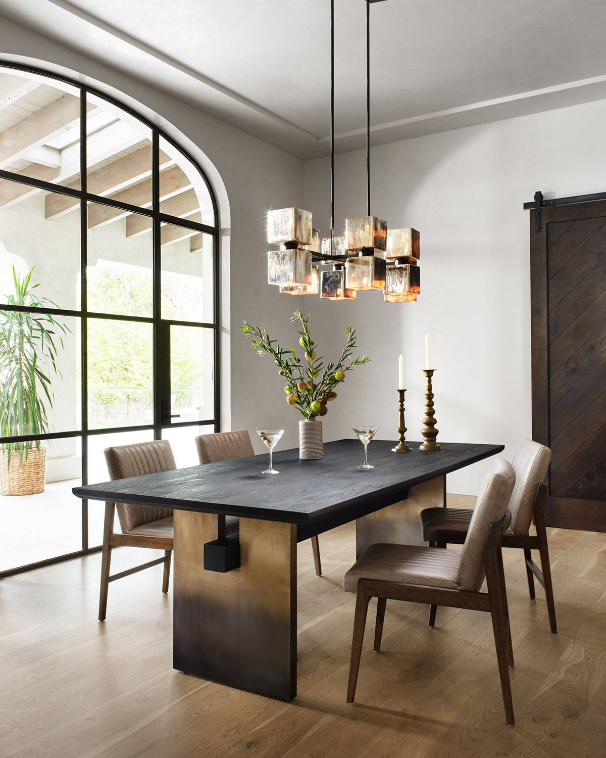 Ombre Dining Table - OMBRE BRASS,BLACK