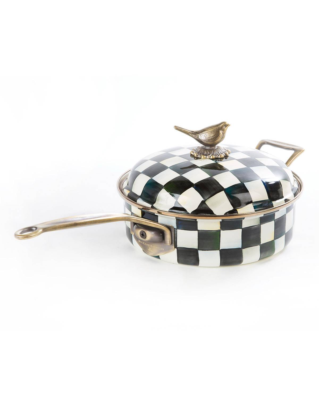 MacKenzie-Childs Courtly Check 3-Quart Saute Pan
