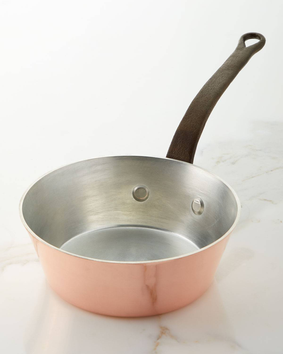 Duparquet Copper Cookware Solid Copper Tin-Lined Splayed Sauce Pan