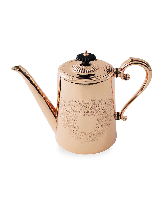 Coppermill Kitchen Copper & Silver Tall Coffee Pot #2 (Late 19th Century)