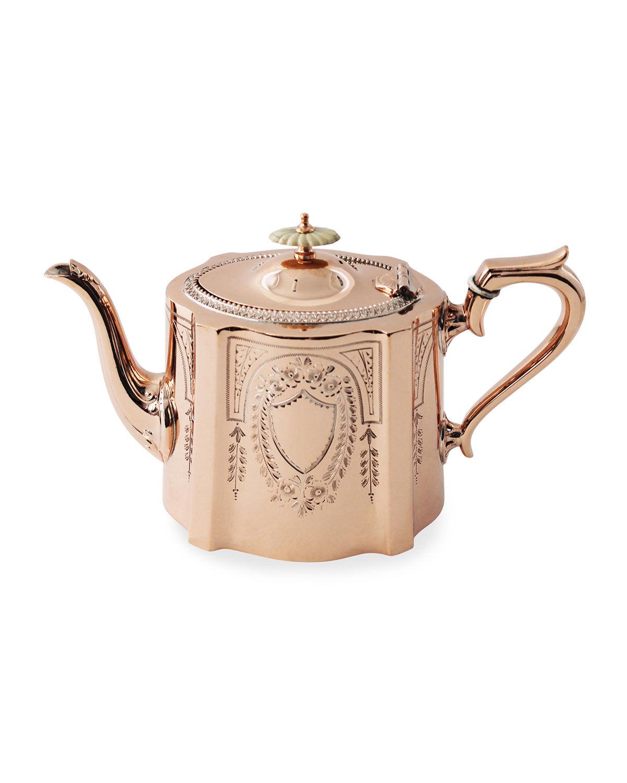 Coppermill Kitchen Copper & Silver Coffee/Tea Pot #6 (Late 19th Century)