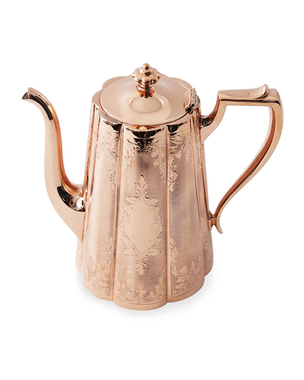 Coppermill Kitchen Copper & Silver Tall Coffee Pot #10 (Late 19th Century)