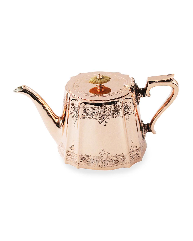 Coppermill Kitchen Copper & Silver Coffee/Tea Pot #1 (Late 19th Century)