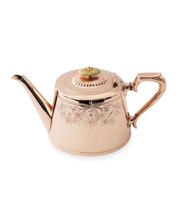 Coppermill Kitchen Copper & Silver Coffee/Tea Pot #5 (Late 19th Century)