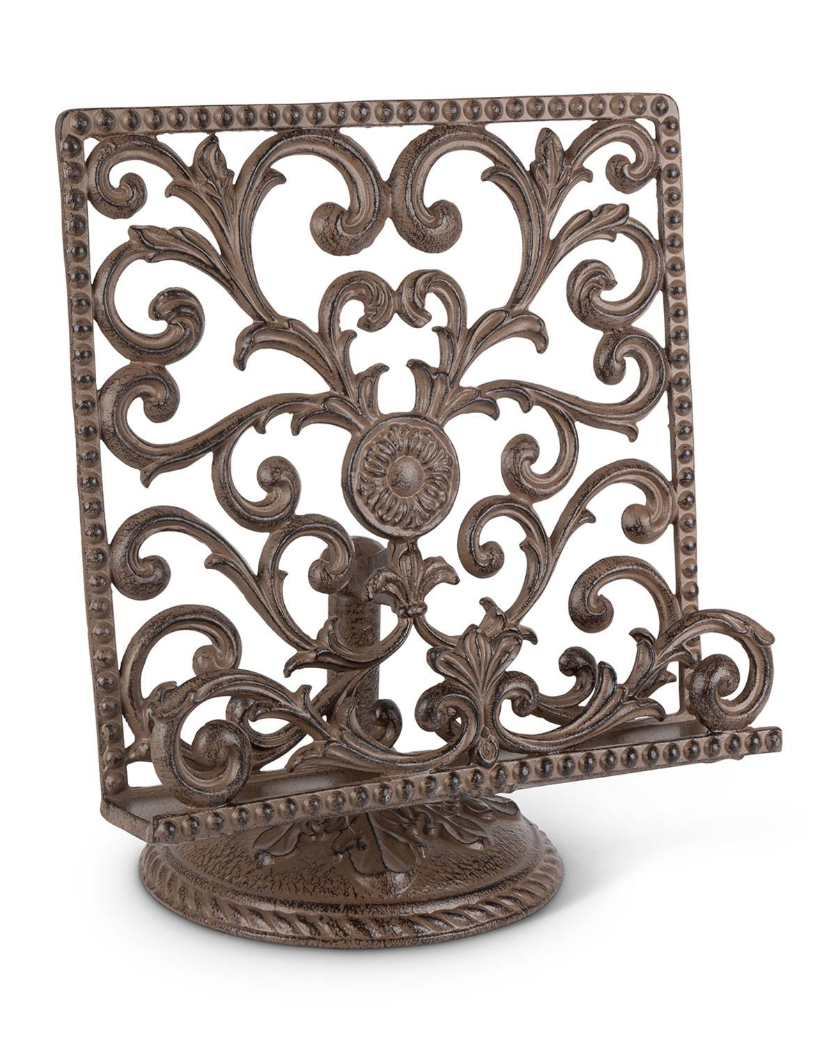 G G Collection Metal Acanthus Leaf Cookbook Stand
