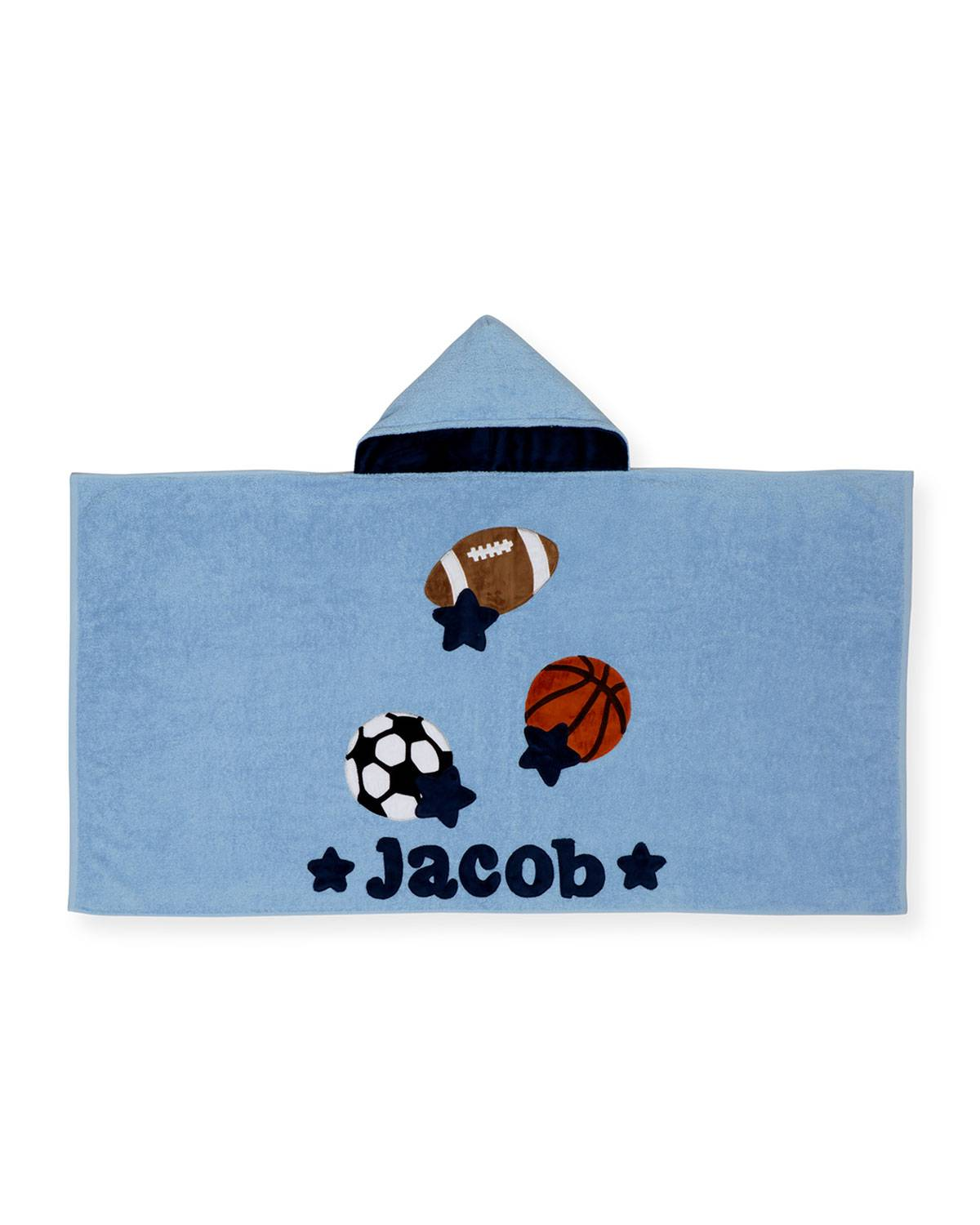 Boogie Baby Good Sport Hooded Towel, Gray/Blue - Size: NO SIZE