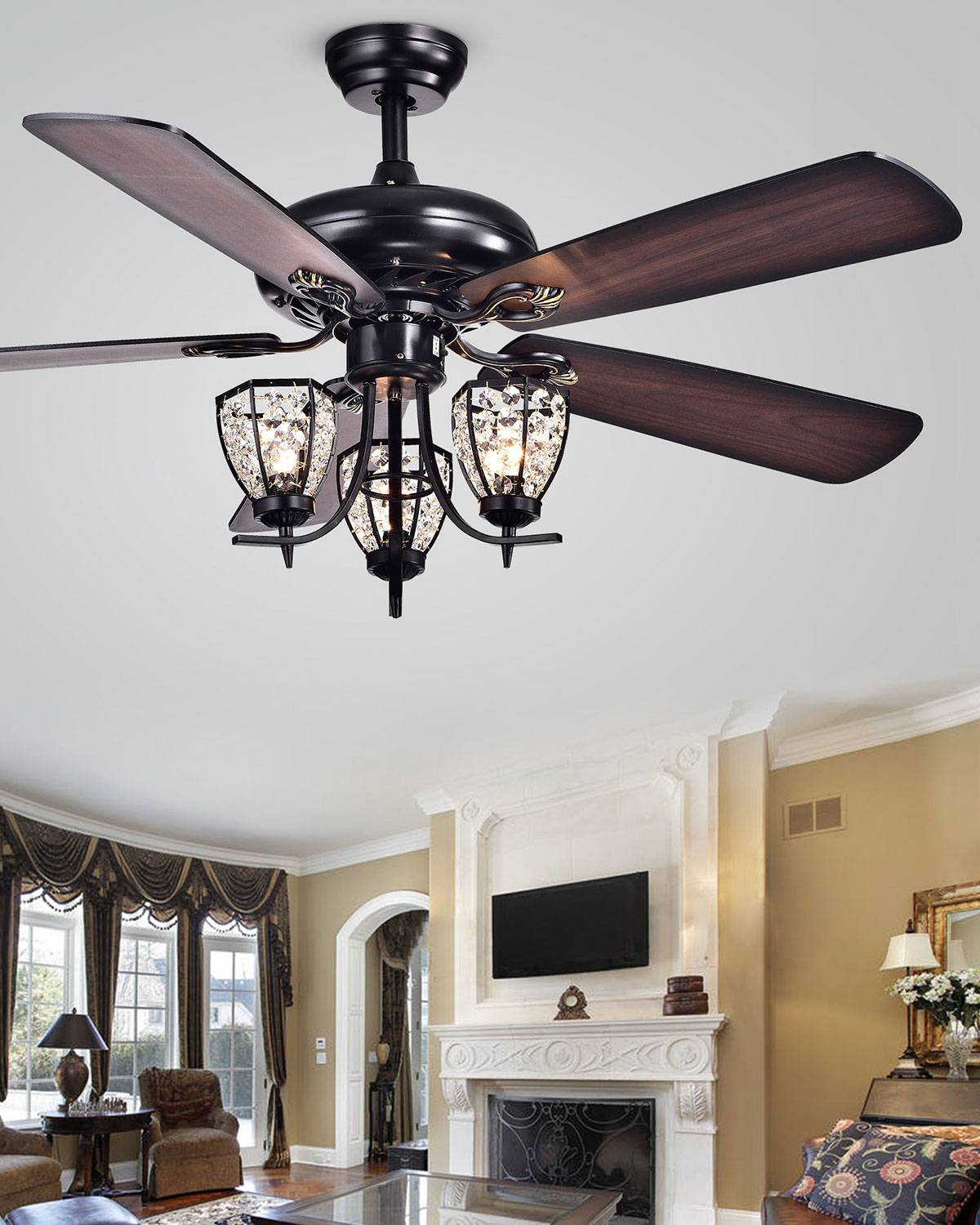 Home Accessories Mirabelle Lamp Post Chandelier Ceiling Fan