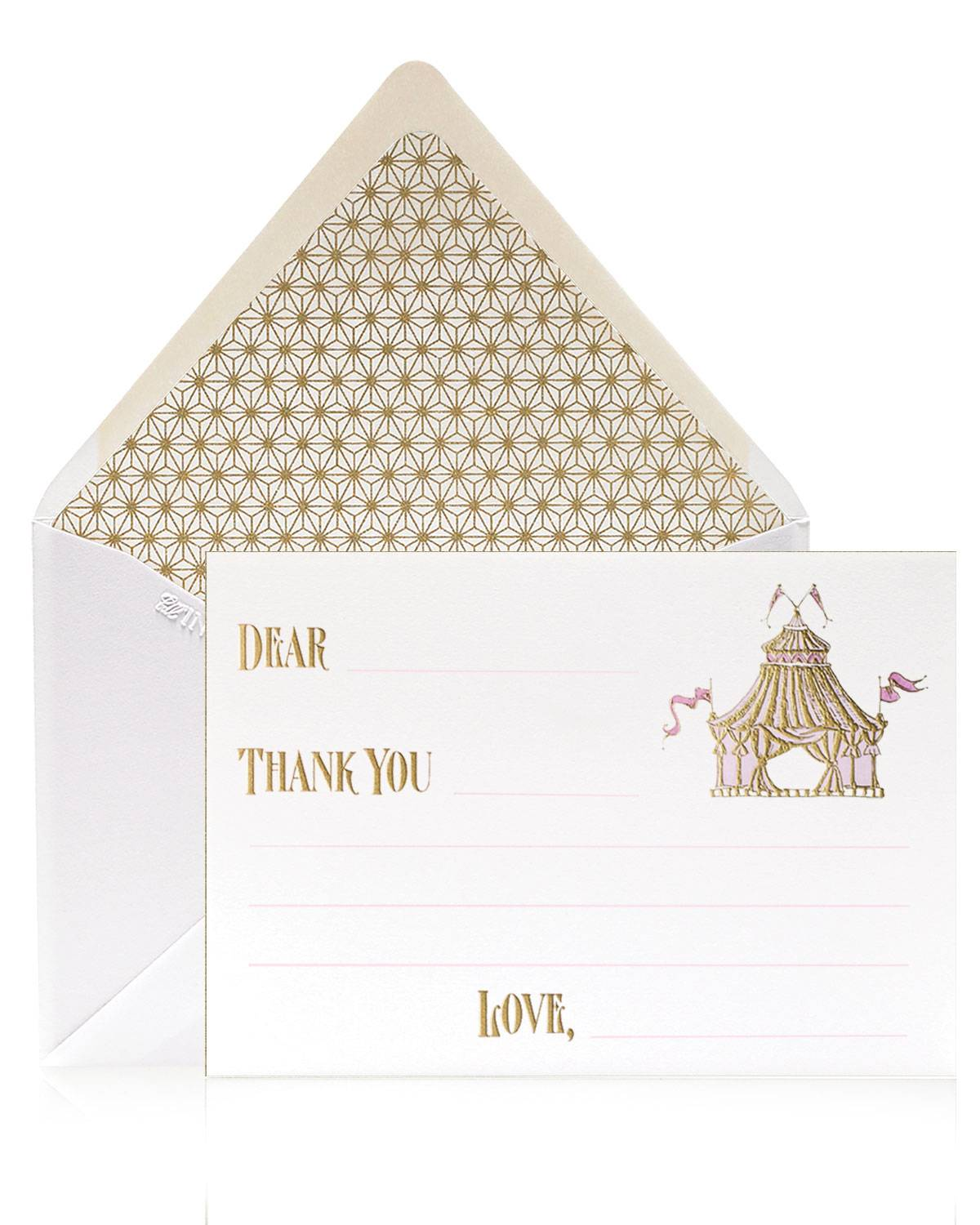 Bell'INVITO Circus Girl Thank You Cards, Box of 12