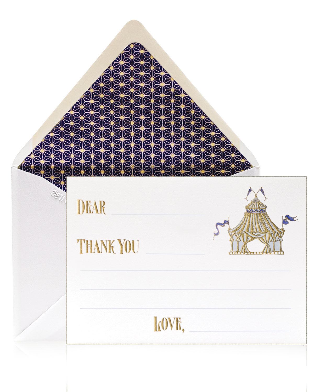 Bell'INVITO Circus Boy Thank You Cards, Box of 12
