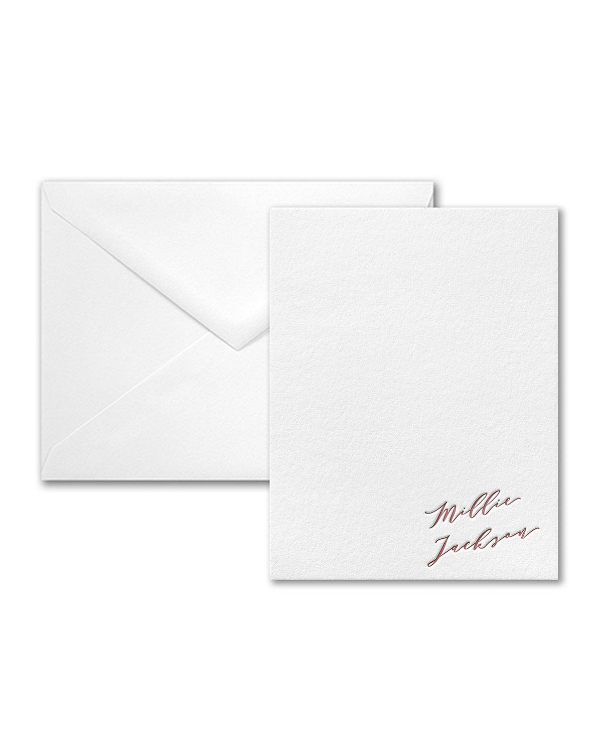 Carlson Craft Gradient Name Note Card