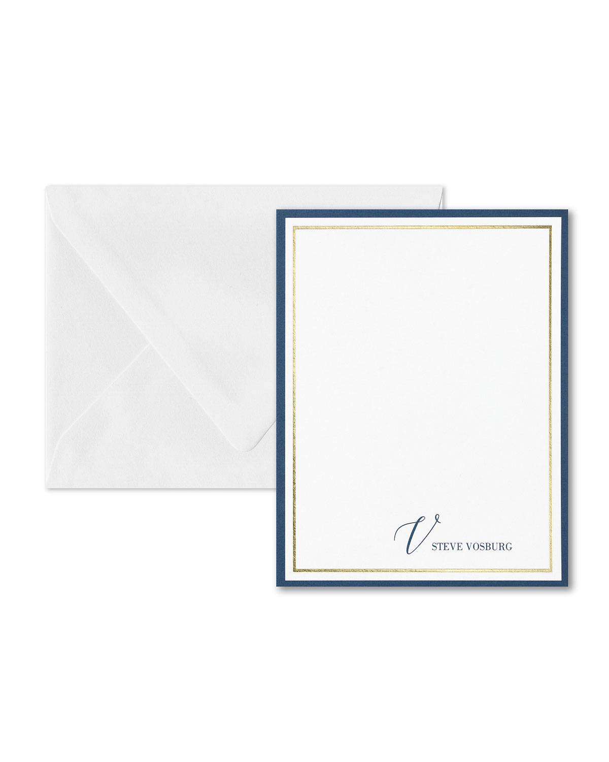 Carlson Craft Thick and Thin Note Card