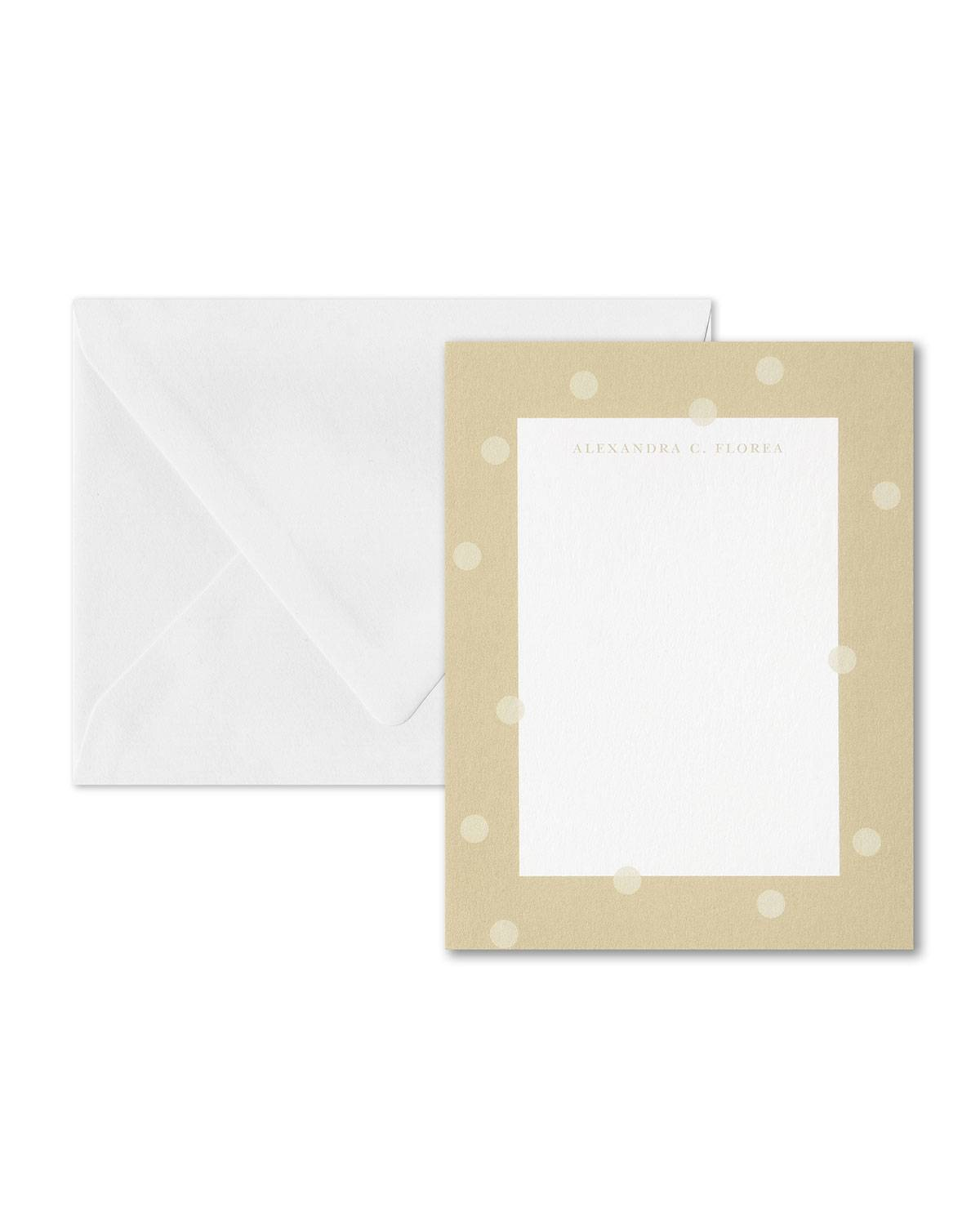 Carlson Craft Floating Dots Note Card