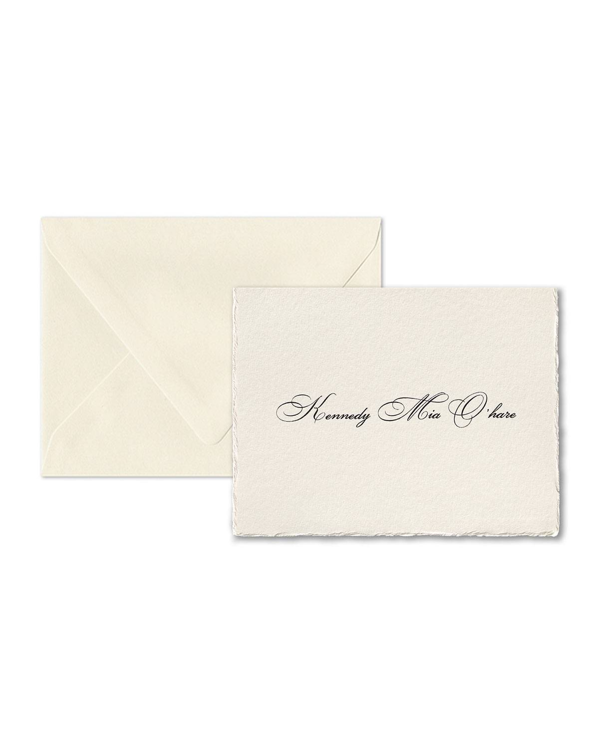 Carlson Craft Simply Feather Deckle Folded Note Cards