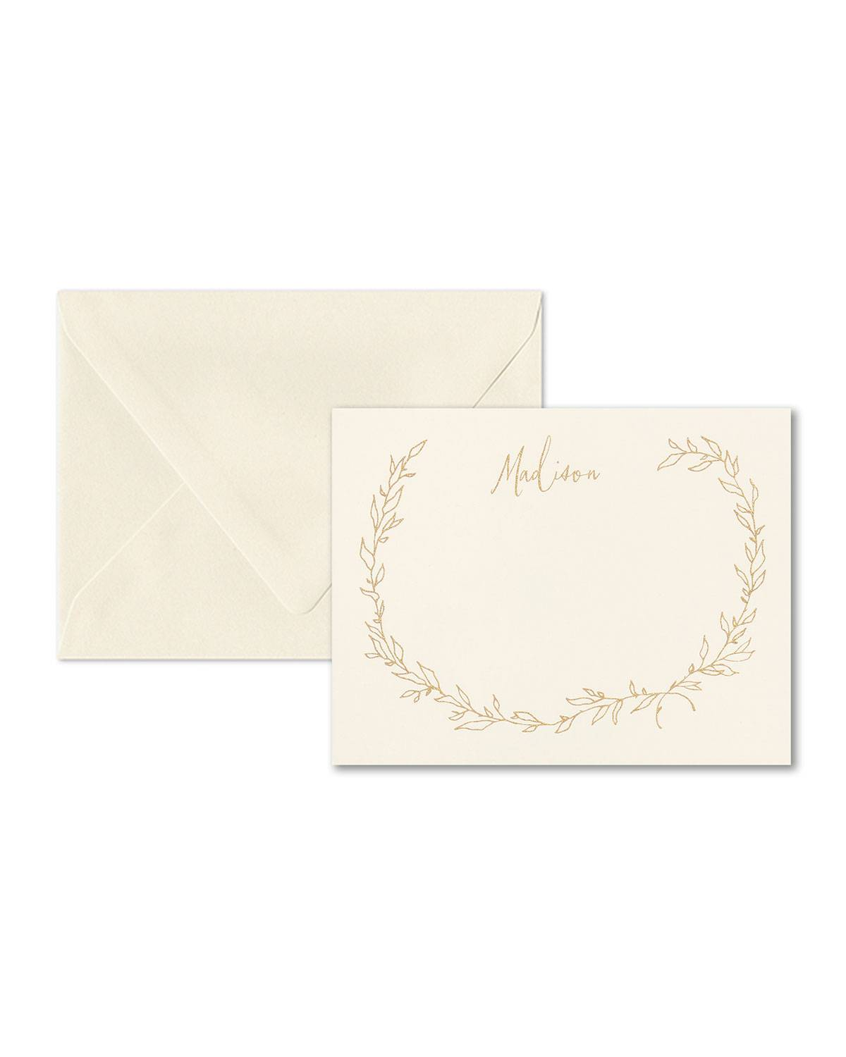Carlson Craft Airy Leaves Note Card
