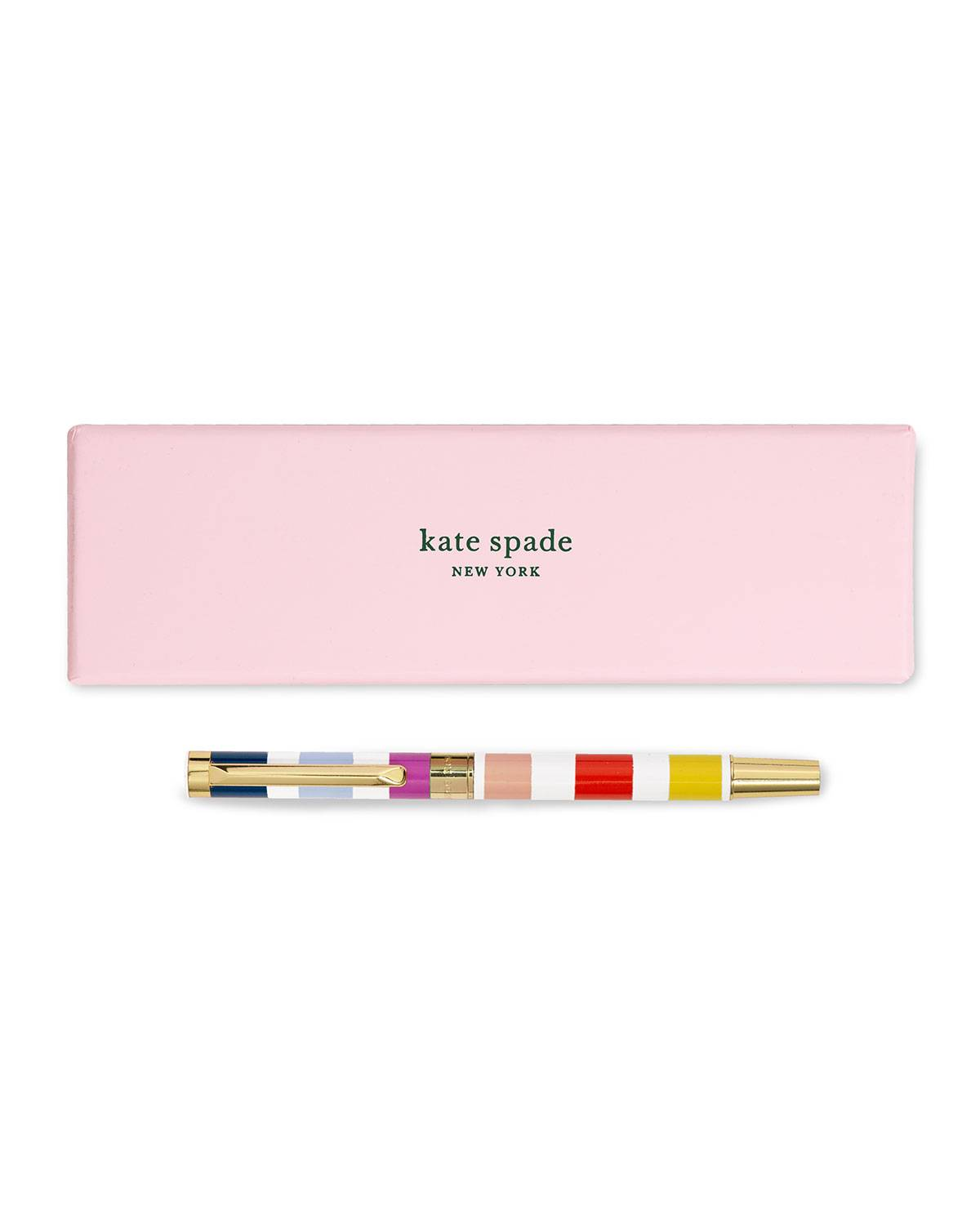 kate spade new york candy stripe ballpoint pen