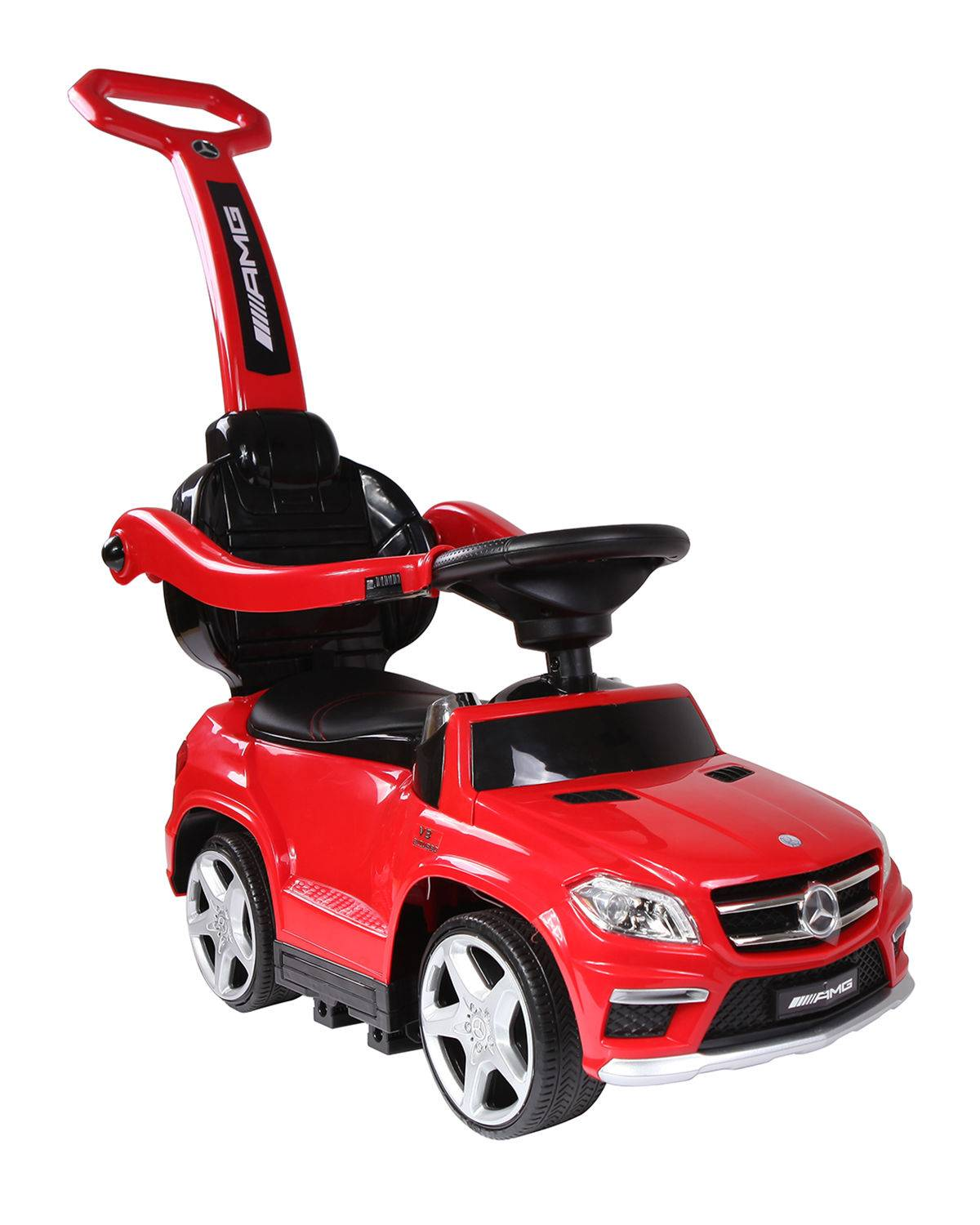 4-in-1 Mercedes Ride-On Push Car