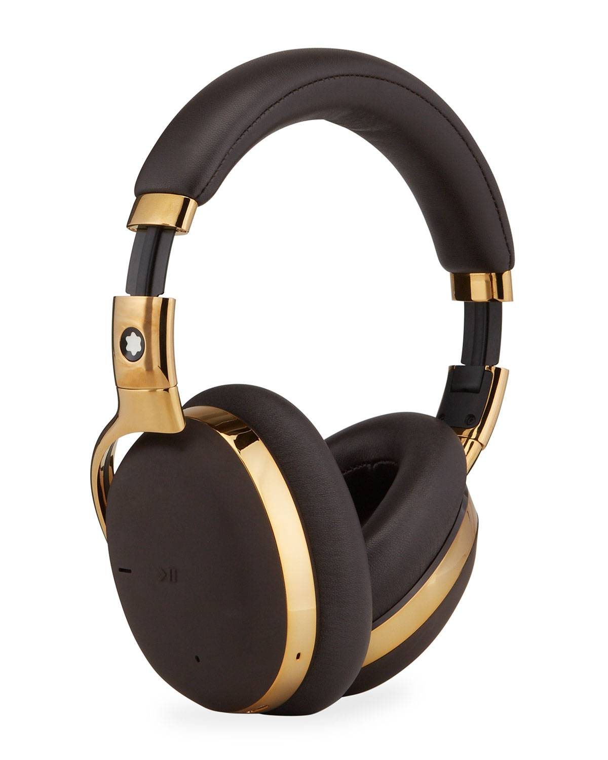 Montblanc MB 01 Over-Ear Headphones, Gold/Brown