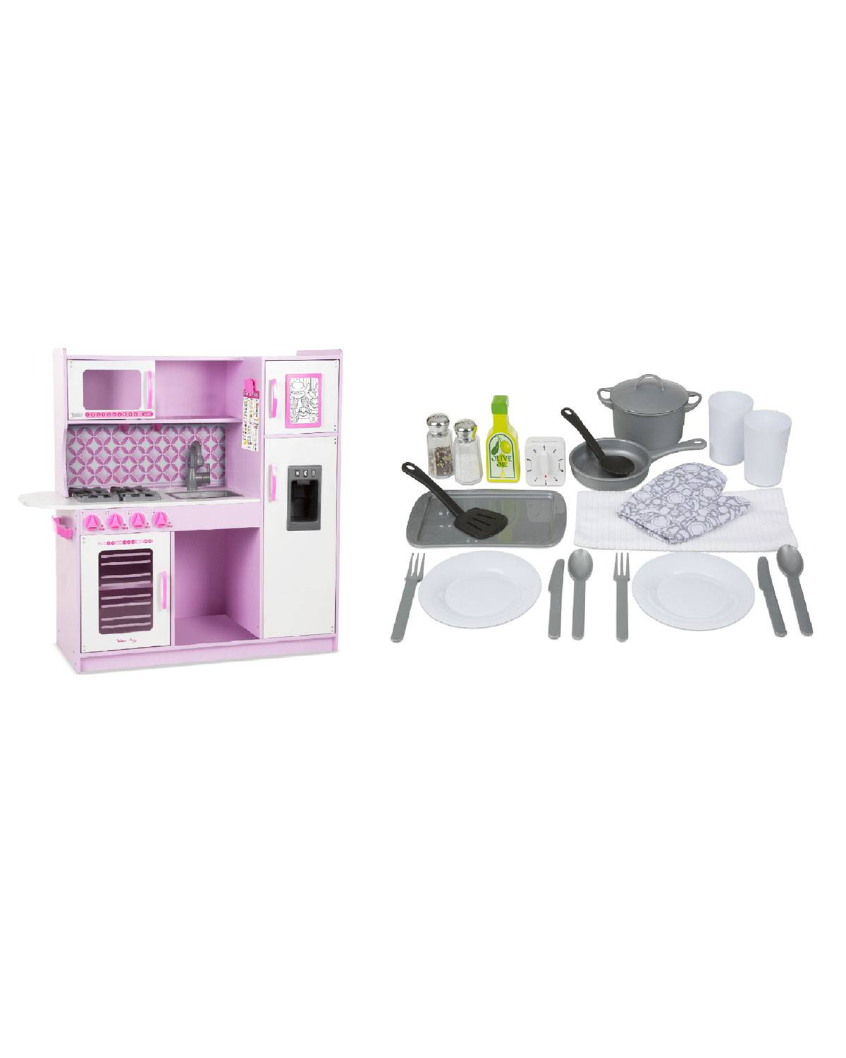 Melissa & Doug Chef's Cupcake Kitchen & Accessory Bundle