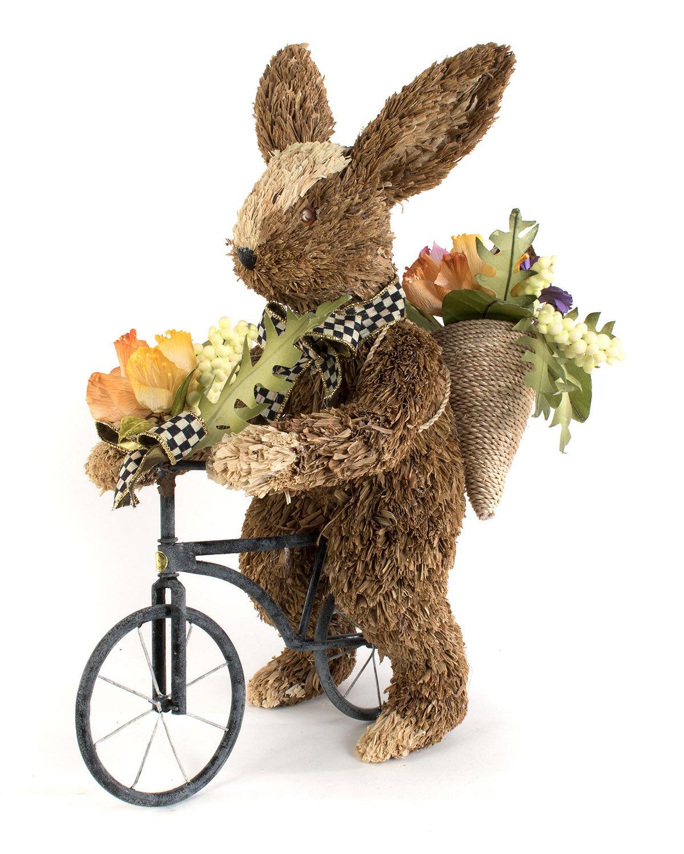 MacKenzie-Childs Farmhouse Garden Bunny on Bike  - Size: unisex